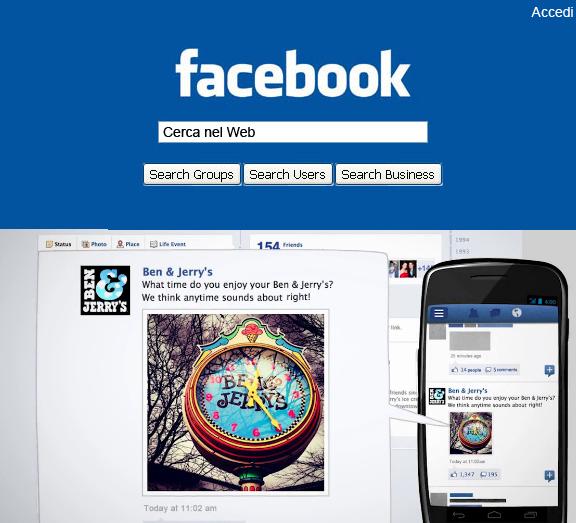 facebook motore ricerca