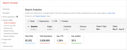 Google search console wb master tool